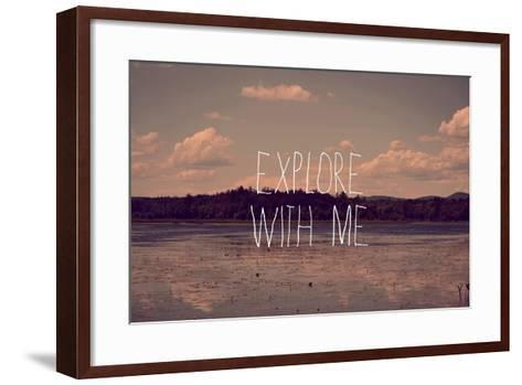 Explore with Me-Vintage Skies-Framed Art Print