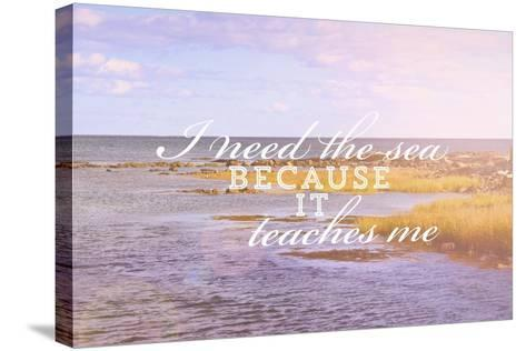 I Need the Sea-Vintage Skies-Stretched Canvas Print