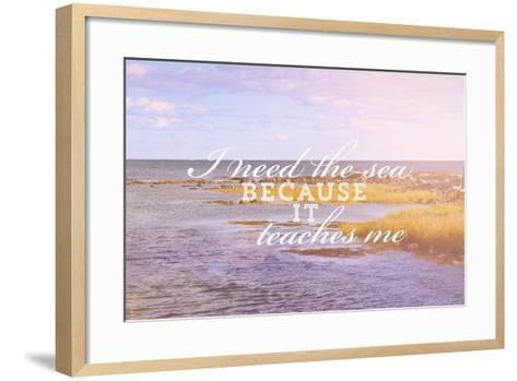 I Need the Sea-Vintage Skies-Framed Art Print