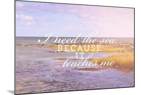 I Need the Sea-Vintage Skies-Mounted Giclee Print