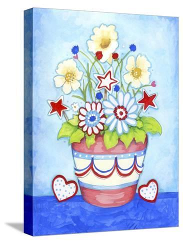 Red Flower Pot-Valarie Wade-Stretched Canvas Print
