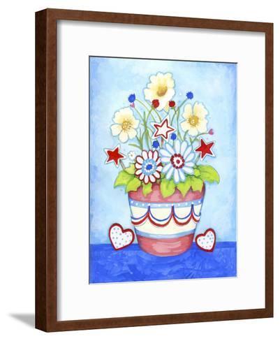 Red Flower Pot-Valarie Wade-Framed Art Print