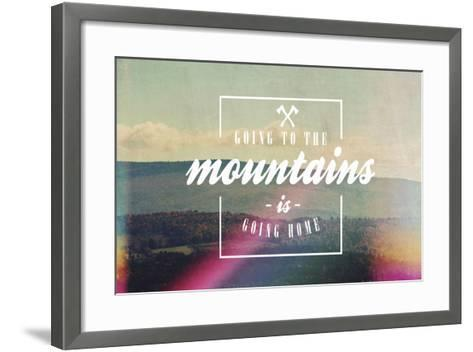 Going to the Mountains-Vintage Skies-Framed Art Print