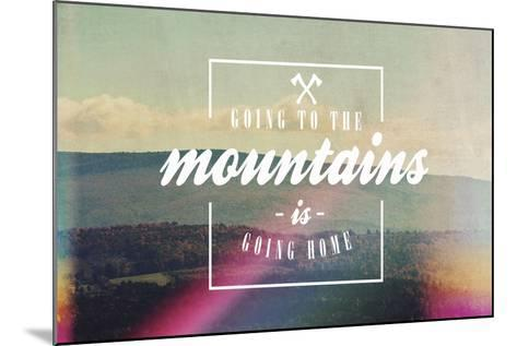 Going to the Mountains-Vintage Skies-Mounted Giclee Print
