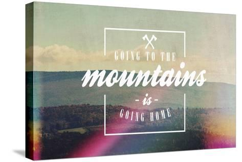 Going to the Mountains-Vintage Skies-Stretched Canvas Print