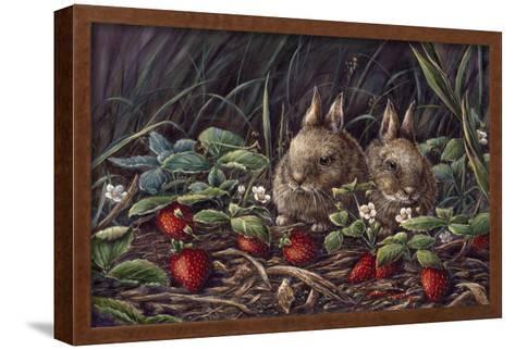 Strawberry Bunnies-Wanda Mumm-Framed Art Print
