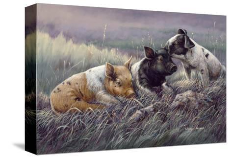 Three Little Pigs-Wanda Mumm-Stretched Canvas Print