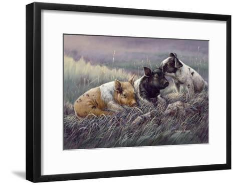 Three Little Pigs-Wanda Mumm-Framed Art Print