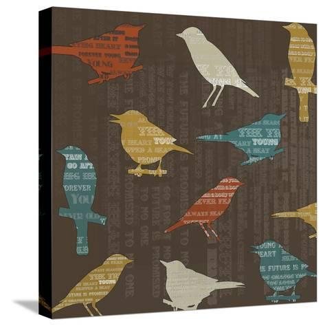 Song Birds-Whoartnow-Stretched Canvas Print