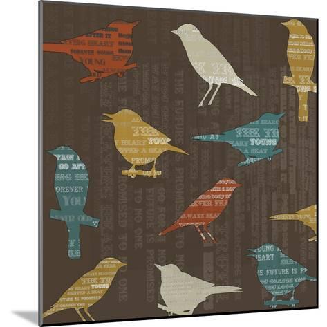 Song Birds-Whoartnow-Mounted Giclee Print