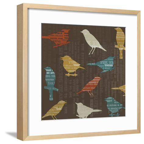 Song Birds-Whoartnow-Framed Art Print