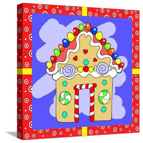 Gingerbread House-Valarie Wade-Stretched Canvas Print