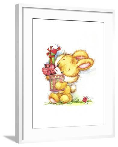 Bunny Rabbit with Gifts-ZPR Int'L-Framed Art Print