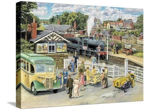 At the Station-Trevor Mitchell-Stretched Canvas Print