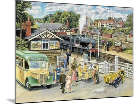 At the Station-Trevor Mitchell-Mounted Giclee Print