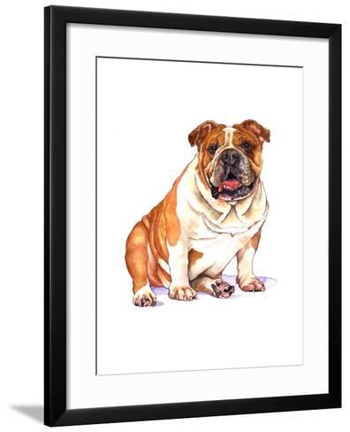 Bulldog-Wendy Edelson-Framed Art Print
