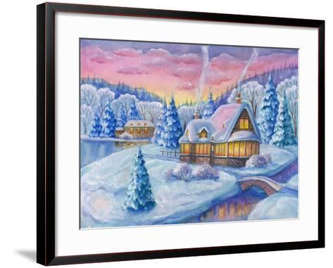Cottage under the Snowcabin Winter-ZPR Int'L-Framed Art Print