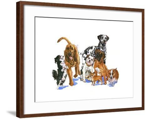 Canine Dogs-Wendy Edelson-Framed Art Print