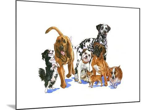 Canine Dogs-Wendy Edelson-Mounted Giclee Print