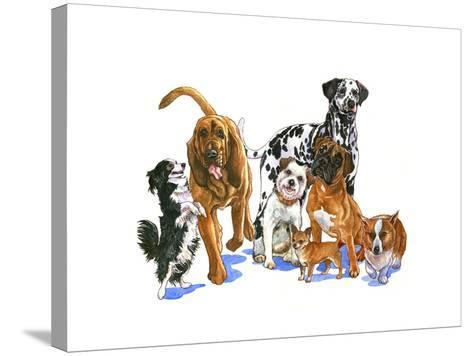 Canine Dogs-Wendy Edelson-Stretched Canvas Print