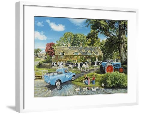 Crossing the Ford-Trevor Mitchell-Framed Art Print