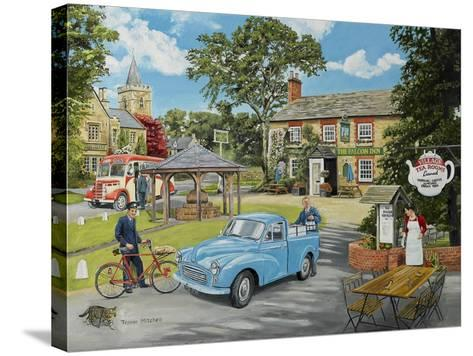 The Village Tea Rooms-Trevor Mitchell-Stretched Canvas Print