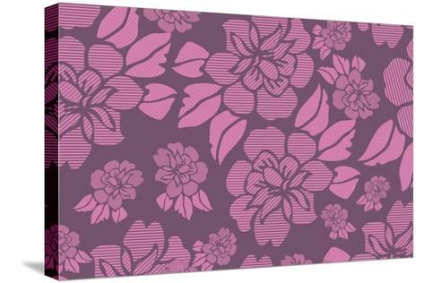Floral Pattern-Whoartnow-Stretched Canvas Print