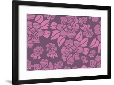 Floral Pattern-Whoartnow-Framed Art Print