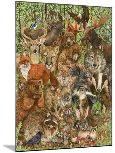 Woodland Mammals-Wendy Edelson-Mounted Giclee Print