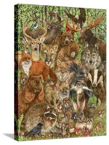 Woodland Mammals-Wendy Edelson-Stretched Canvas Print