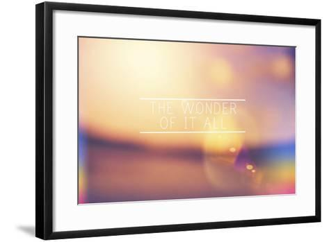 The Wonder-Vintage Skies-Framed Art Print