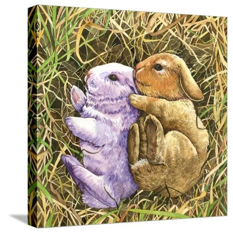 Two Bunnies-Wendy Edelson-Stretched Canvas Print