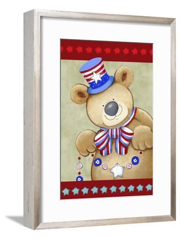 Stars and Stripes Bear-Valarie Wade-Framed Art Print