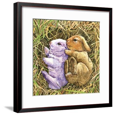 Two Bunnies-Wendy Edelson-Framed Art Print