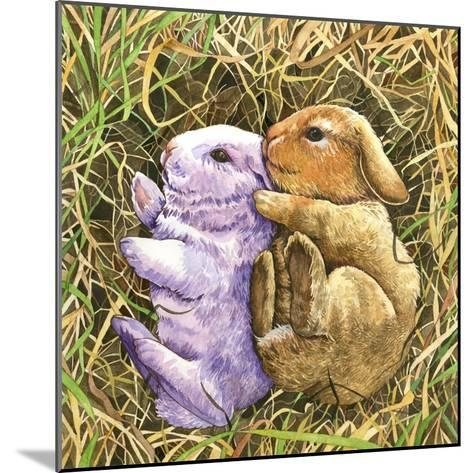 Two Bunnies-Wendy Edelson-Mounted Giclee Print