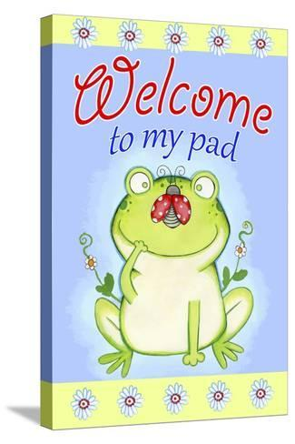 Welcome to My Pad-Valarie Wade-Stretched Canvas Print