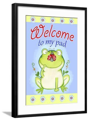 Welcome to My Pad-Valarie Wade-Framed Art Print