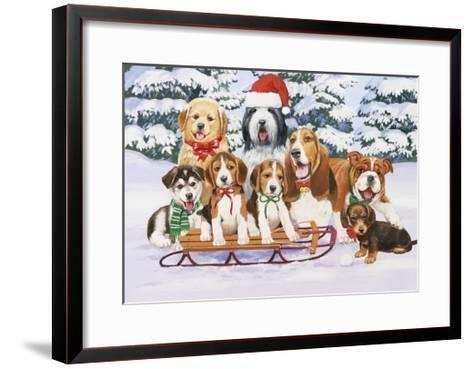 Sled Dogs-William Vanderdasson-Framed Art Print