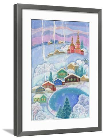 Cottages under the Snow Cabin-ZPR Int'L-Framed Art Print