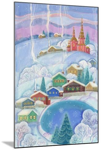 Cottages under the Snow Cabin-ZPR Int'L-Mounted Giclee Print