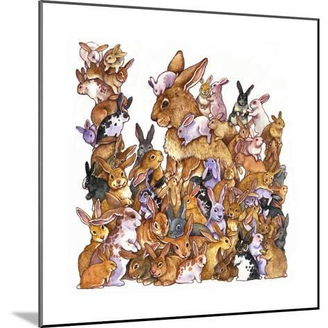 Bunnies-Wendy Edelson-Mounted Giclee Print