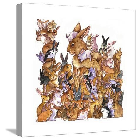 Bunnies-Wendy Edelson-Stretched Canvas Print
