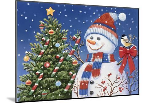 Snowman Decorating Tree-William Vanderdasson-Mounted Giclee Print