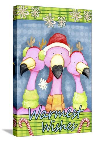 Flamingo Party-Valarie Wade-Stretched Canvas Print