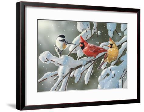 Heavy Snowfall-William Vanderdasson-Framed Art Print