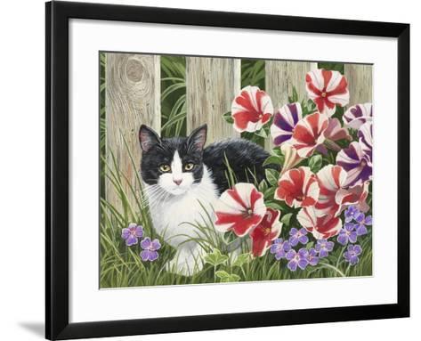 Minnie in the Petunias-William Vanderdasson-Framed Art Print