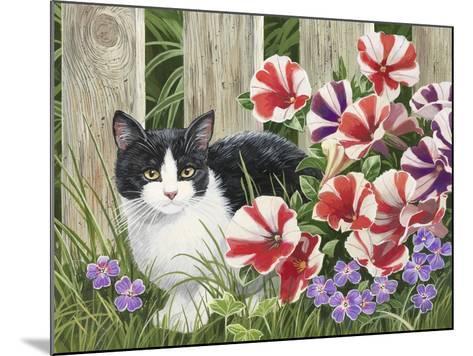 Minnie in the Petunias-William Vanderdasson-Mounted Giclee Print