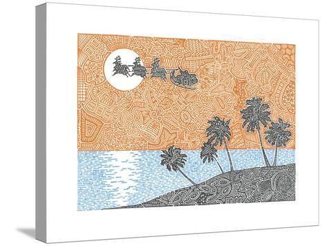Christmas Palms-Viz Art Ink-Stretched Canvas Print