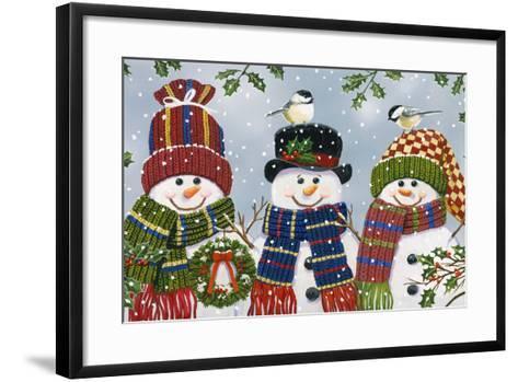 Snowman Trio-William Vanderdasson-Framed Art Print