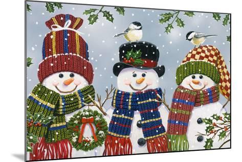 Snowman Trio-William Vanderdasson-Mounted Giclee Print